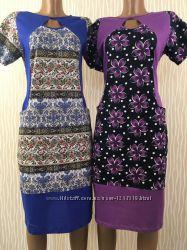 Женские платья трикотажные р. 44-58