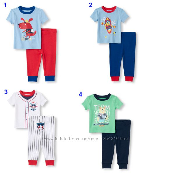 Пижамки для мальчика комплекты для дома Childrens Place 18мес - 2Т