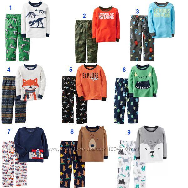 Флисовые пижамы Carters на мальчика 2-3 года