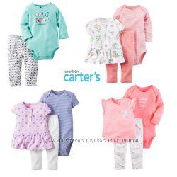 Комплекты Carters для девочки 6-12 мес , боди, туника, штаны