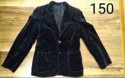 Велюровый пиджак на 9-12 лет