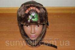 Детская зимняя шапка для мальчиков Бен10, р. 48-50, 50-52