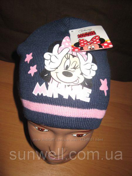 Детская демисезонная шапка для девочек Minnie Mouse р. 52, 54