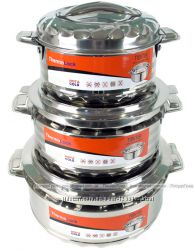 Набор 3 термо-кастрюли TOiTO Hot&Cold 2. 5л, 3. 5л и 5л