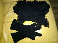 Шарф и перчатки, комплект