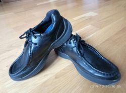 Кожанные туфли для мальчика, мокасины, топсайдеры, фирма TU