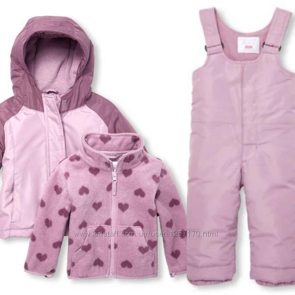 Зимний комплект 3 в 1 The Children&acutes Place для девочки 5 лет