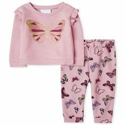 Утепленный костюм свитшот и штаны The children&acutes place для девочек от 1 д