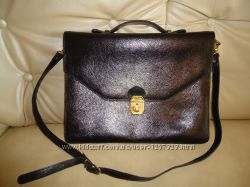 Кожаная мужская сумка портфель в отличном состоянии