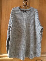 Новый мужской свитер H&M Шерсть р. 52 - 54 XL