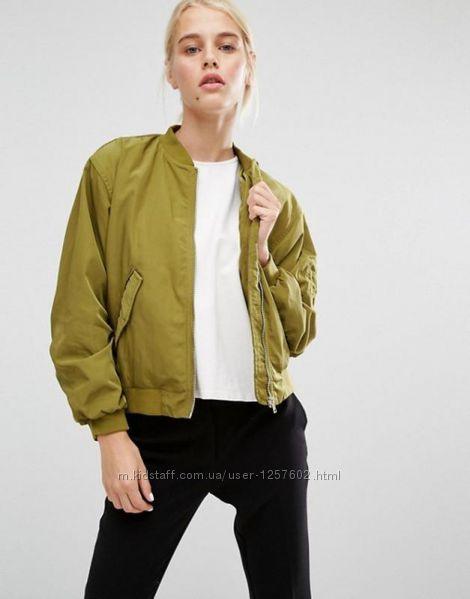 Бомбер куртка женская хаки ТМ Monki.