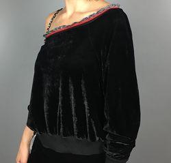 My-bb fashion Итальянский нарядный велюровый костюм М