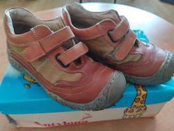Туфли-полуботинки кожаные