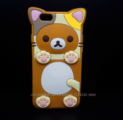 Чехол айфон 6, 6s , силиконовый, милый котик.