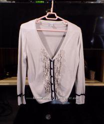 Пуловер цвета какао с оборками, H&M, р. М
