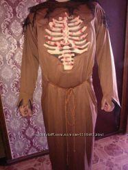 карнавальный костюм монах, смерть, скелет аниматор M, L, XL до 190