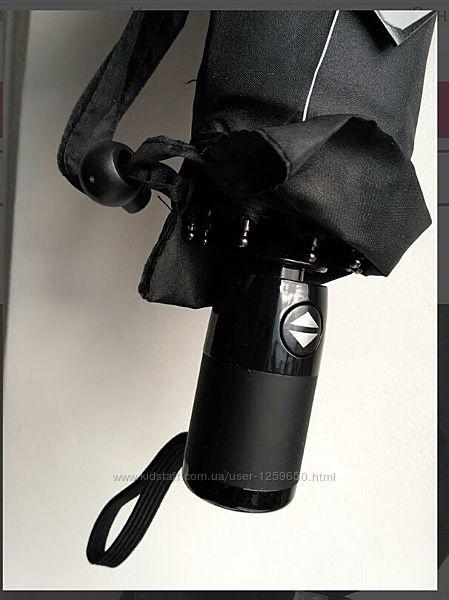 Зонт полный автомат мужской черный на 10спиц.