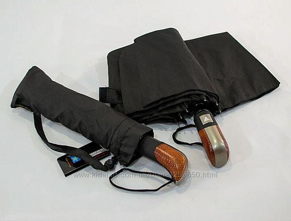 Зонт полный автомат мужской черный, на 10 спиц из карбона, антиветер