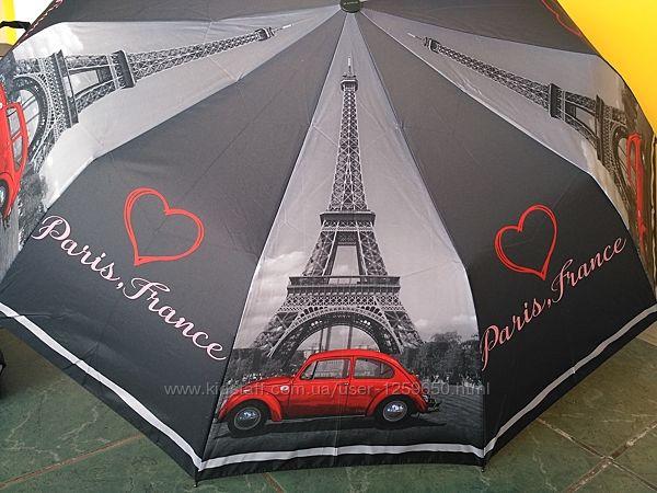 Зонт полуавтомат на 10спиц женский антиветер .