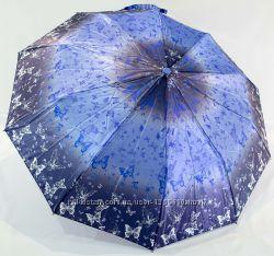 Зонт полуавтомат женский переливающийся на 9 карбоновых спиц