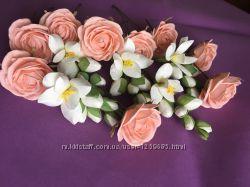 Цветы на торжество, фоамиран