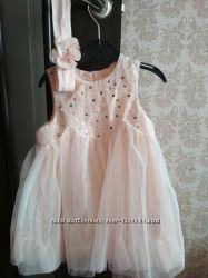 Платье H&M с повязкой р. 80