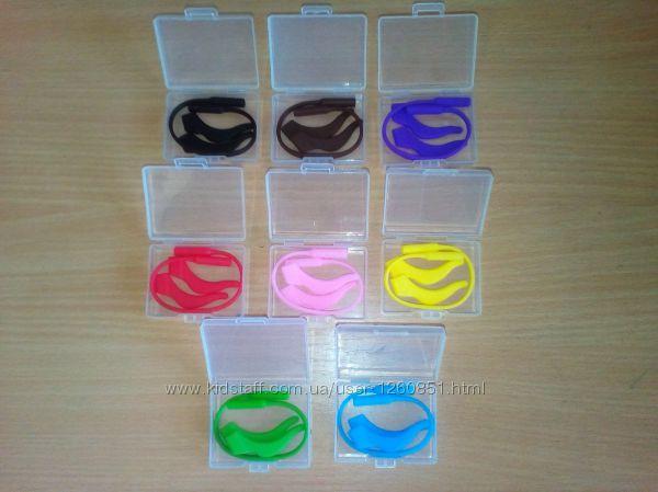 Комплект силиконовых заушников стопперов с резинкой для очков