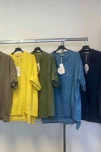 Рубашки женские лён Италия