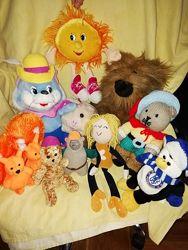 Мягкая игрушка Солнышко, кот , кукла , пингвин