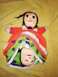 кукла 2 в 1 , перевертыш, вязаная