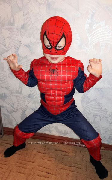 Крутой карнавальный костюм Spiderman Человек-Паук 985809b09a1ba