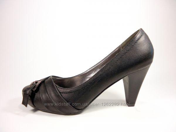 Женские модные туфли на устойчивом каблучке. Размер 36-41.