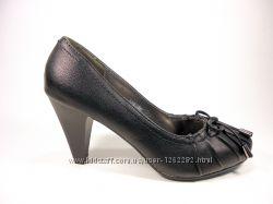 Женские классические туфли на устойчивом каблучке. Размер 36-41.
