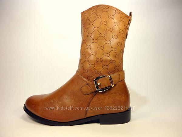 Сапоги-полусапожки женские демисезонные на устойчивом каблуке. Размер 36-41