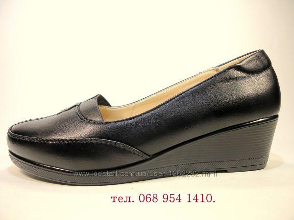 Женские туфли на танкетке. Размер 36-41.