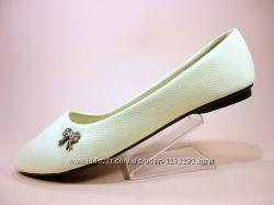 Женские белые балетки под кожу рептилии. Размер 36-41.
