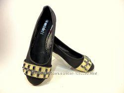 Туфли балетки женские, черные, стильные. Размер 36-41.