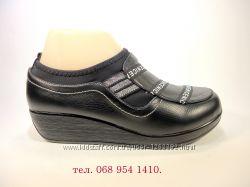 Туфли женские на танкетке, модные, лёгкие и комфортные. Размер 35-40.