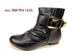 Ботинки полусапожки женские демисезонные удобные и стильные. Размер 36-41.