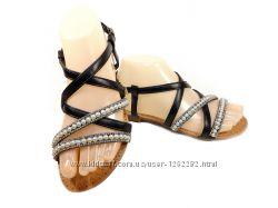 Босоножки сандалии гладиаторы, черные. Размер 36-41.