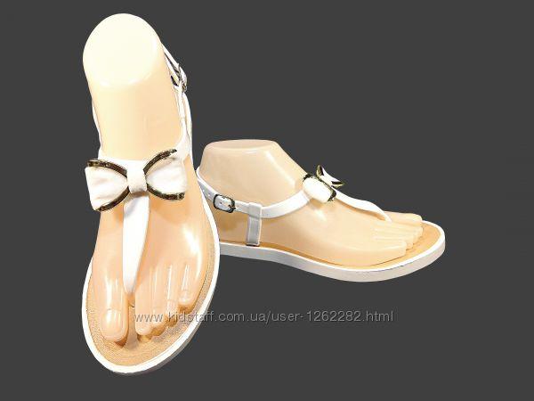 Босоножки сандалии, вьетнамки, женские, силиконовые, белые. Размер 36-40.