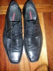 Кожаные туфли р. 47 по стельке 33см. чёрные, в отличном состоянии.