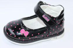 Туфли С. Луч G7818-1 для девочки чёрные