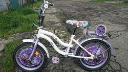 Велосипед для девочки белый