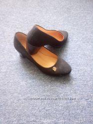 осенние замшевые туфли