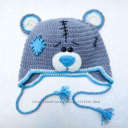 Шапка-зверюшка зверошапка мишка Тедди