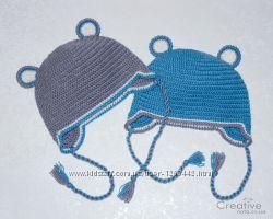 Шапка-зверюшка зверошапка с ушками