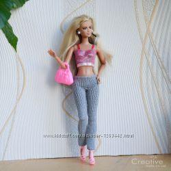 Лосины леггинсы брюки стрейч для Барби