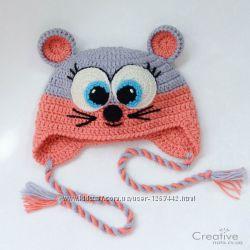 Шапка-зверушка зверошапка Мышка