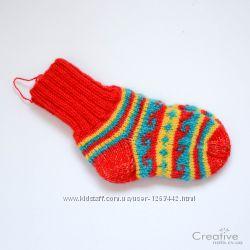 Вязаные носки с жаккардовым узором